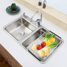 Kitchen Sink Drain Rack Amazoncom Sanno Dish Rack Over Sink Adjustable Arms Holder