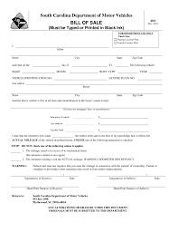 031 Template Ideas South Carolina Vehicle Bill Of Sale