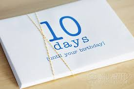 birthday countdown envelopes one envelope a day for ten days filled with photos artwork and notes such a fun way to countdown to someone s birthday