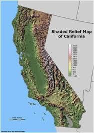 California Regions Relief Map Of California 14 Best Ca Relief Map Images