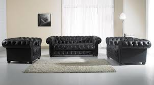 Living Room Black Leather Sofa Decor Black Leather Tufted Sofa And Tufted Leather Sofa