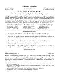 Engineering Management Sample Resume Resume Summary Examples Engineering Manager Danayaus 1