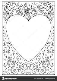 Hou Van Citaat Volwassen Kleurplaat Valentijn Stockfoto Nuarevik