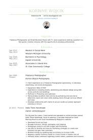 Photographer Resume Objective Photographer Resume Example Examples Of Resumes 95