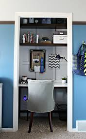 closet office desk. I Could Have Gone Crazy And Stuck All Sorts Of Organizers Inside Those Panels, However, Had To Hold Myself Back. What Would We Gain? Clutter? Closet Office Desk S
