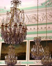 the peterhof palace grand chandeliers in peterhof palce