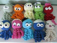 Crochet Octopus For Premature Babies Pattern Fascinating How To Crochet An Octopus For A Preemie Knitting Pinterest