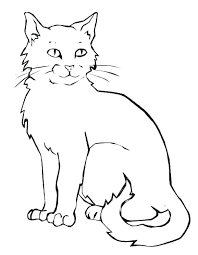Cute Kitty Coloring Pages Cat Colouring Kitten Cats Cute Kitty
