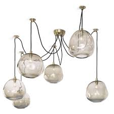 Hudson Spider Light Price Molten Spider With Smoke Glass Large Pendant Chandelier By