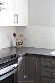 painted kitchen cabinets benjamin moore chelsea gray gray owl white subway tile