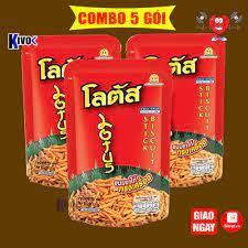 COMBO 5 GÓI] Bánh Snack Que Cọng Thái Lan - Bim Bim Ăn Vặt Thái Lan - Bánh  Kẹo Thái Lan - Đồ Ăn Vặt Thái Lan chính hãng 35,000đ