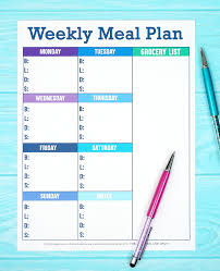 menu planner worksheet printable weekly meal planner template happiness is homemade