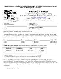 Pet Sitter Information Form Free Printable Pet Sitting Forms Beyin Brianstern Co