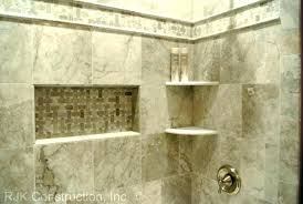 corner shelf shower shelves tile tub surround on bathtub round cor