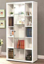 bookcases white bookcase glass doors furniture amazing with design