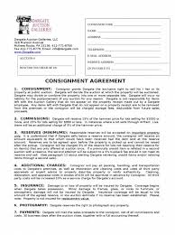 Consignment Form Template Consignment Agreement Template Word Consignment Contract Template 23