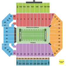 Oklahoma Memorial Stadium Seating Chart Oklahoma Memorial