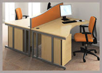 double office desk. double wave desks office desk