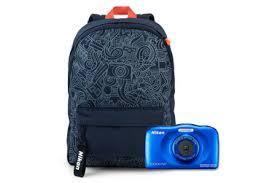 Компактный фотоаппарат <b>Nikon</b> Coolpix W150, <b>синий</b> + рюкзак ...