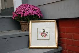 heres my picture frame with a face lift featuring an original fl embroidery