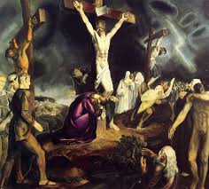 the crucifixion george wesley bellows oil painting