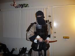 picture of cardboard samurai armor that looks authentic
