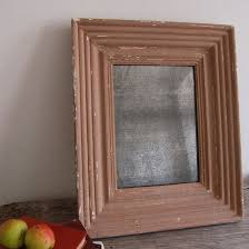 reeded mercury glass mirror