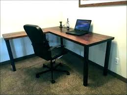 rustic office furniture computer desk writing industrial home wood c81