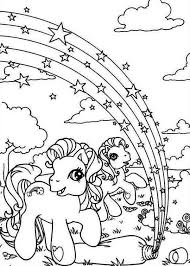 Small Picture My Little Pony Rarity and Pinkie Pie with Rainbow Star Coloring