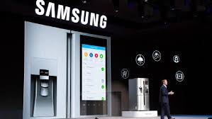 samsung refrigerator touch screen. ces show gadgets the new samsung fridge that lets you order groceries. refrigerator touch screen