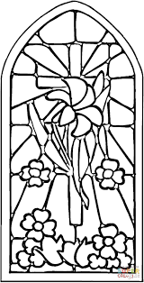 Small Picture Stained Glass Window coloring page Free Printable Coloring Pages