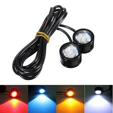 Motorcycle Strobe Lights 2pcs Motorcycle Atv Led Mirror Warming Flash Decor Strobe License Plate Light Lamp