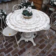 white iron garden furniture. plain garden white iron garden table inside furniture
