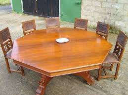 10 seater dining set antique round table huge round dining table to ten seat dining table