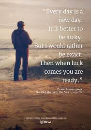 Ernest Hemingway The Old Man And The Sea Highlight Share And
