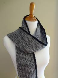 Ribbed Scarf Pattern Magnificent Fiber Flux Free Crochet PatternOutline Ribbed Scarf