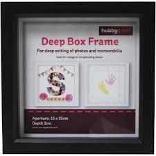 black deep box frame 15cm x 15cm