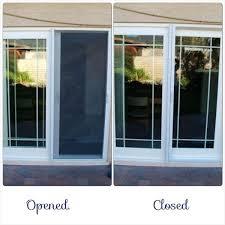 self closing sliding glass door design of patio door screens door screens screen repair within sliding