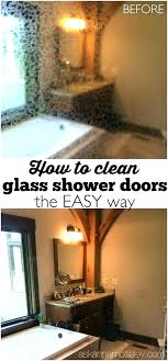 best cleaner for glass shower doors how to clean the easy way and cleaning with vinegar how to clean shower doors best