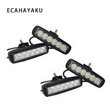 12 Volt Led Automotive Flood Lights Ecahayaku 4pcs 18w Drl Led Spot Flood Work Light Worklight 9