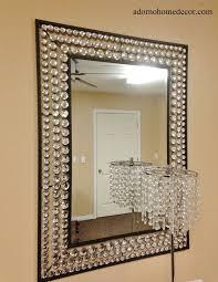 large metal wall crystal jewel mirror