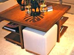 coffee table with stools underneath coffee table stool set