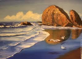 oil painting on canvas marine landscape sea handmade