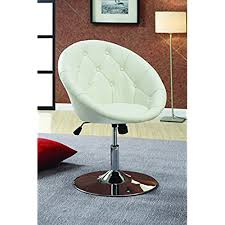 cool desk chairs for teenagers. Exellent Cool Coaster Contemporary Swivel Accent Chair With Faux Leather Upholstered Seat  And Button Tufting Back White In Cool Desk Chairs For Teenagers O