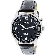 seiko men s ska781 silver leather japanese quartz fashion watch