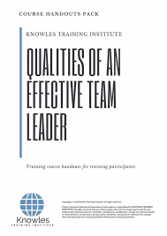 Qualities Of An Effective Team Leader Training Course In