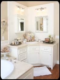 the old painted cottage unique goods and curious finds i like this corner vanity idea