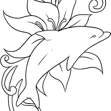 Dolphin Coloring Pages Printable Kakura Info Coloring Pages For Kids
