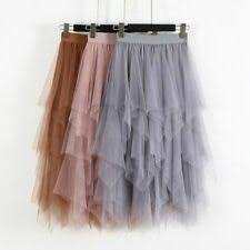<b>Mesh</b> Long <b>Pleated</b> Skirts for Women for sale | eBay