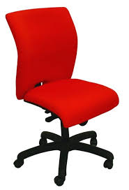 e tek chair with a stylish curved back and curved waterfall seat with black base and black gas strut